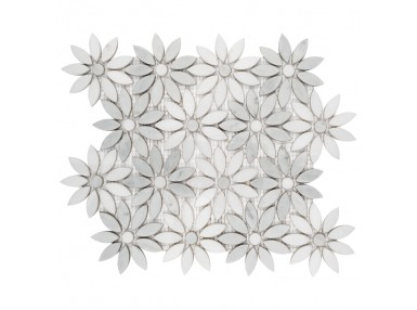 Carrara White Bloom 28,5x31,5. Mozaika kamienna.