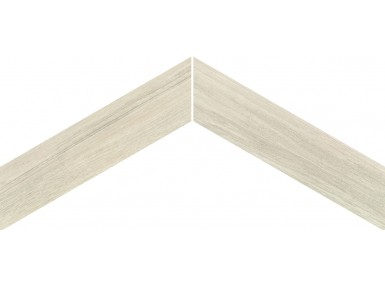 Sleek Wood Chevron White 11x54