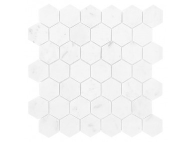 Carrara White Hexagon 29,8x30,2x1 mozaika kamienna