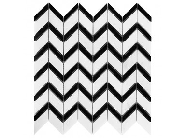 Pure White Chevron mix 31x30.5 Mozaika kamienna.